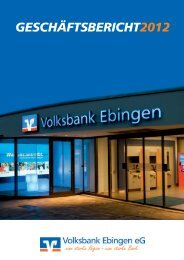 Geschäftsbericht 2012 der Volksbank Ebingen eG (ca. 3,7 MB)