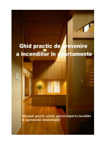 Ghid practic de prevenire a incendiilor in apartamente