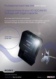 Professional Hard Disk Unit from Sony Capture ... - Avecom Media Oy