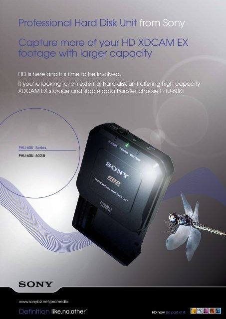 Professional Hard Disk Unit from Sony Capture     - Avecom