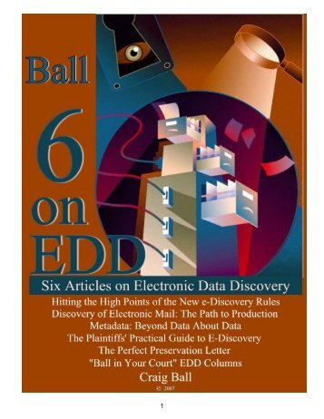 Six Articles on Electronic - Craig Ball