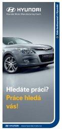 Hledáte práci? - HYUNDAI Motor Manufacturing Czech