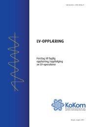 Rapport: LV-opplæring. Forslag til faglig opplæring ... - KoKom