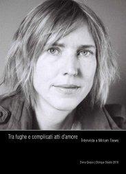 Miriam Toews - Oblique Studio