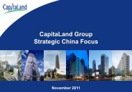 Presentation slides 'CapitaLand Group Strategic China Focus'