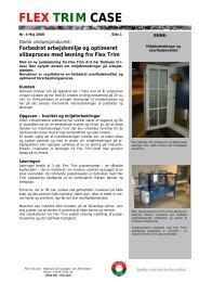 Forbedret arbejdsmiljø og optimeret slibeproces med ... - Flex-Trim A/S