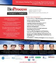 THE Industry Meeting Place to Exchange Real ... - IBC Life Sciences