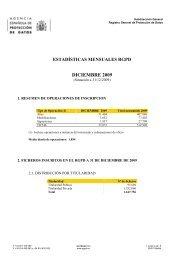 DICIEMBRE 2009 - Agencia Española de Protección de Datos