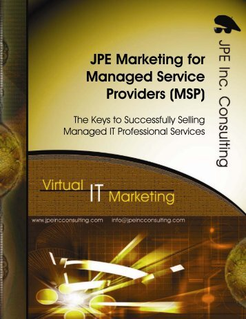 JPE Marketing for Managed Service Providers - JPE Inc. Consulting