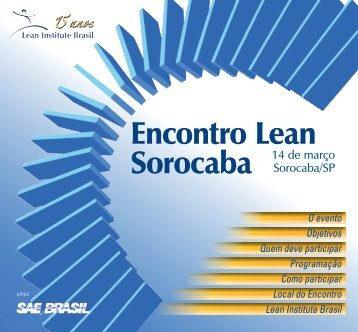 Encontro Lean Sorocaba - Lean Institute Brasil
