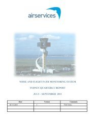 noise and flight path monitoring system sydney quarterly report july