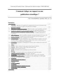Comment rédiger un rapport ou une publication scientifique ?