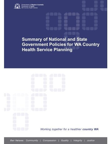 Summary National and State Government Policies March 2012 final