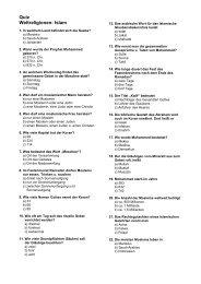 Quiz Weltreligionen: Islam