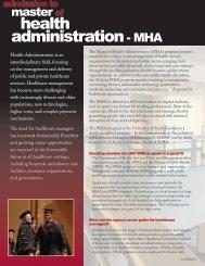 health administration- MHA - Arnold School of Public Health ...
