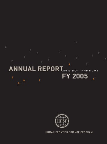 Annual Report Fiscal Year 2005/2006 - Human Frontier Science ...