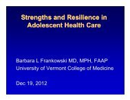 presented - Maine Chapter of the American Academy of Pediatrics