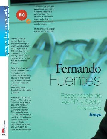 D. Fernando Fuentes - Revista DINTEL Alta Dirección