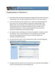 Projektarbeiten in Onlineform - Portal Automatisierungstechnik der tsm