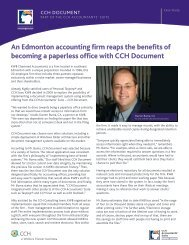 An Edmonton accounting firm reaps the benefits of ... - CCH Canadian