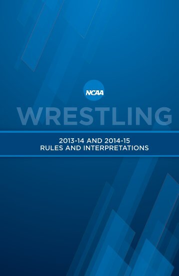 (PDF). - NCAA Wrestling Officiating