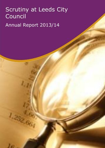 Draft Scrutiny Annual Report 2014