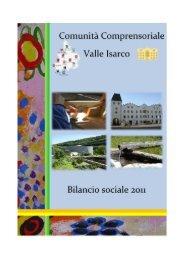 Il Bilancio sociale della Comunità Comprensoriale Valle Isarco