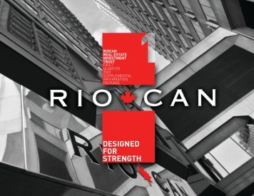 Q1 2009 Supplemental Information Package (PDF 1.16 MB) - RioCan