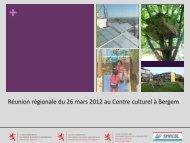 Réunion régionale à Bergem (pdf - 2623 Ko) - Ministère du logement