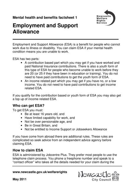 employment and support allowance backdating