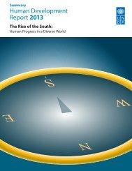 Human Development Report 2013 - UNDP in Turkey