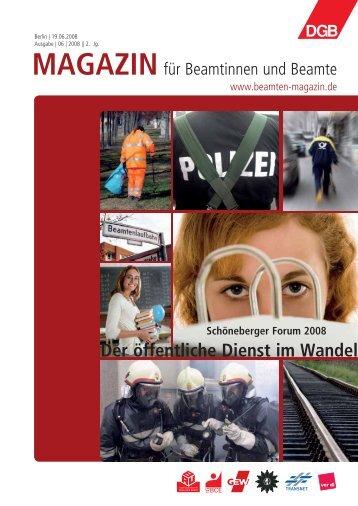 Ausgabe | 06 | 2008 - Landesbeamte