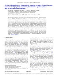On the R-dependence of the spin-orbit coupling constant: Potential ...