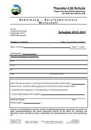 Schuljahr 2012/ 2013 - Theodor-Litt-Schule - Stadt Neumünster