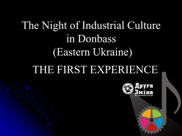 Experiences from Ukraine - ERIH
