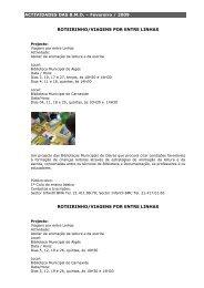 programação de Fevereiro de 2009 - Câmara Municipal de Oeiras