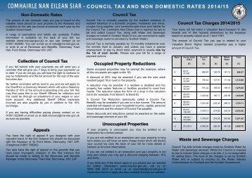C.Tax / NDR Leaflet (PDF, 100K) - Comhairle nan Eilean Siar