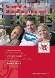 So wohnen Studenten in Bremen! - Galileo Residenz