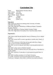 English CV - An-Najah Blogs