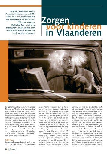 Zorgen voor kinderen in Vlaanderen - Weliswaar