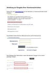 Anleitung zur Eingabe Ihrer Vereinsnachrichten: - Haibach