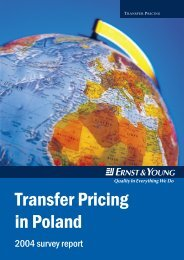 Transfer Pricing in Poland - Ernst & Young