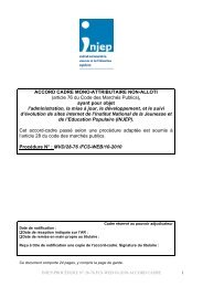 Accord-cadre valant Cahier des Clauses Administratives ... - Injep