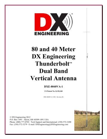 80 and 40 Meter DX Engineering Thunderbolt™ Dual Band Vertical ...