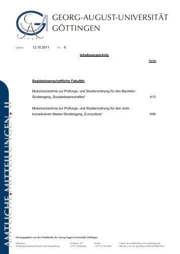 Modulverzeichnis zur Prüfungs- und Studienordnung