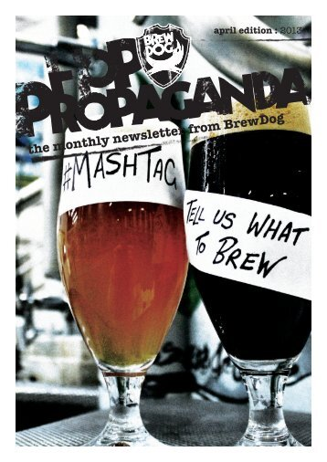the monthly newsletter from BrewDog april edition