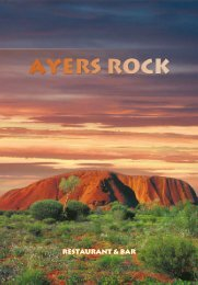 RESTAURANT & BAR - Ayers Rock