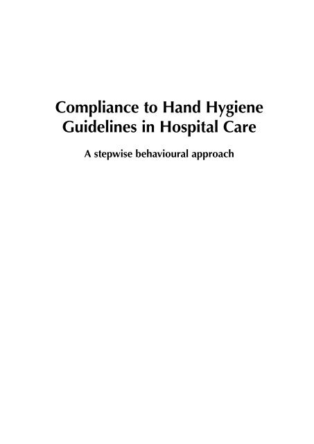 Afrika Leren Bank.Compliance To Hand Hygiene Guidelines In Hospital Care A