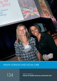 HealtH ScienceS and Social care