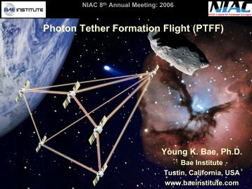 Young Bae - NASA's Institute for Advanced Concepts